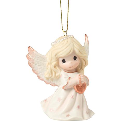 Precious Moments 9th Annual Angel Bisque Porcelain Ornament