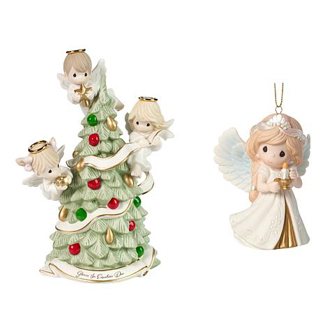 Precious Moments Angel Ornament and Figurine Limited Edition 2pc Set
