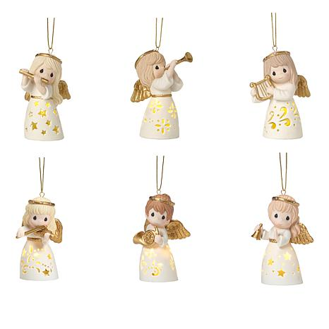 Precious Moments Angels with Instruments LED Ornaments