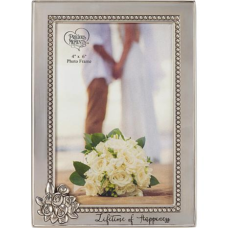 """Precious Moments """"Lifetime of Happiness"""" 4x6 Photo Frame"""