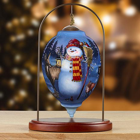 Precious Moments Ne'Qwa Art Snowman Ornament With Stand