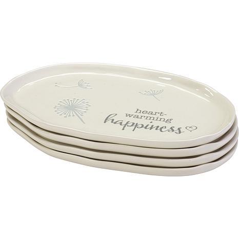 Precious Moments Set of 4 Peaceful Nature Ceramic Plates