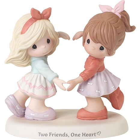 Precious Moments Two Friends One Heart Bisque Porcelain Figurine