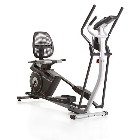 Proform Hybrid Trainer Elite Elliptical And Rebent Bike With 2 Workout 8011638 Hsn