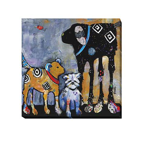 """""""Proud Mom"""" Gallery-Wrapped Giclee Canvas Wall Art"""