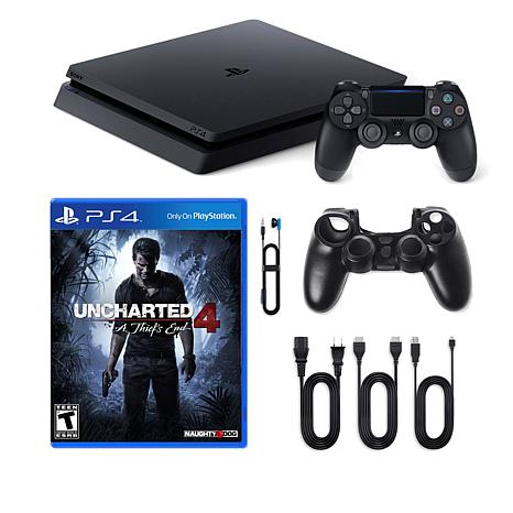 "PS4 Slim 1TB Console with ""Uncharted 4: A Thief's End"""