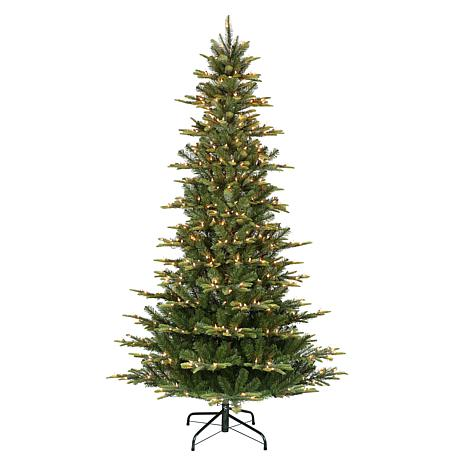 Puleo International 7.5' Pre-Lit Slim Artic Fir  Christmas Tree
