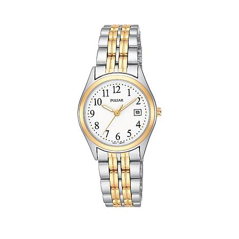 Pulsar Ladies 2-Tone Stainless Steel Bracelet Watch