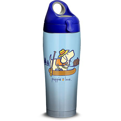 Puppie Love Canoe 24 oz Stainless Steel Water Bottle with lid