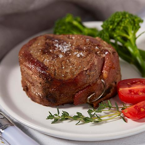 Pureland Meat Co 5 oz. Peppered Bacon-Wrapped Sirloin Steaks 12-count