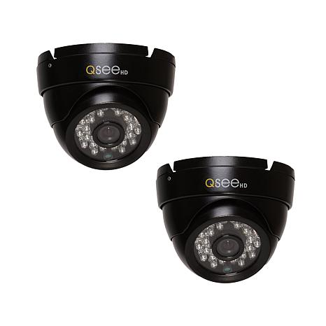 Q-See HD Security Dome Camera with Night Vision 2pk