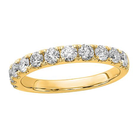 Radiant Fire 14K Gold 1ctw Lab-Grown Diamond Round Wedding Band Ring
