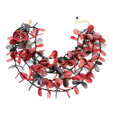 "Rara Avis by Iris Apfel 5-Strand Flower 19"" Necklace"