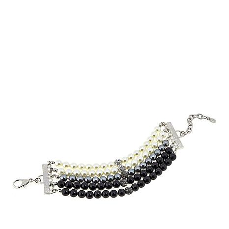 Rara Avis by Iris Apfel Simulated Pearl 5-Row Bracelet