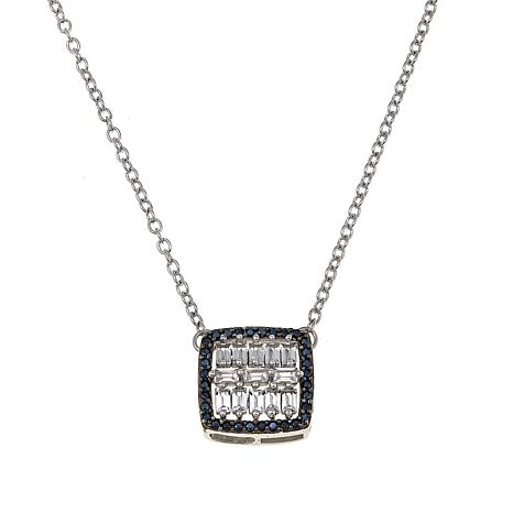 "Rarities 0.67ctw Black Spinel and White Topaz 16-1/2"" Pendant Necklace"