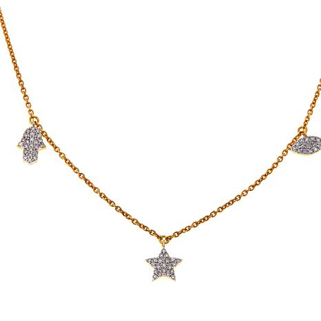 "Rarities 14K 0.3ctw Diamond Talisman 16"" Necklace"