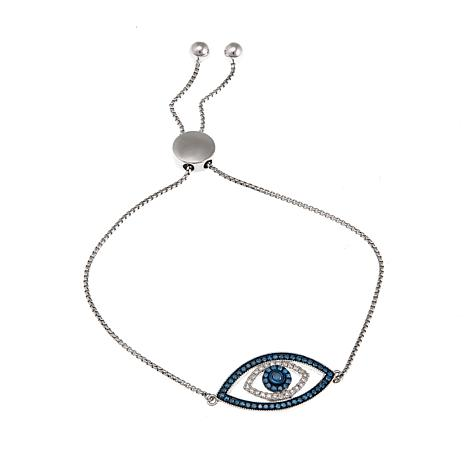 Rarities Blue and White Diamond Evil Eye Bracelet