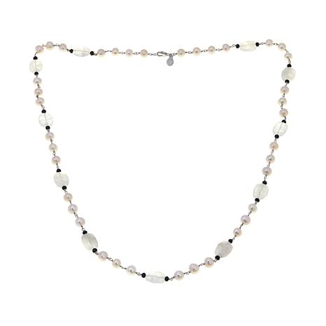 Rarities Cultured Pearl, Gem and Black Spinel Necklace