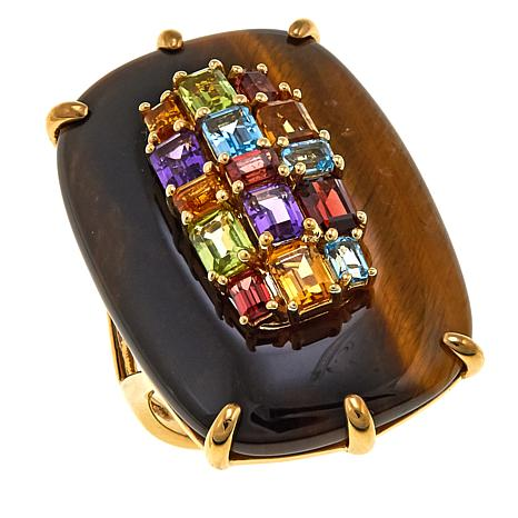 Rarities: Fine Jewelry with Carol Brodie Tiger's Eye Multigem Ring