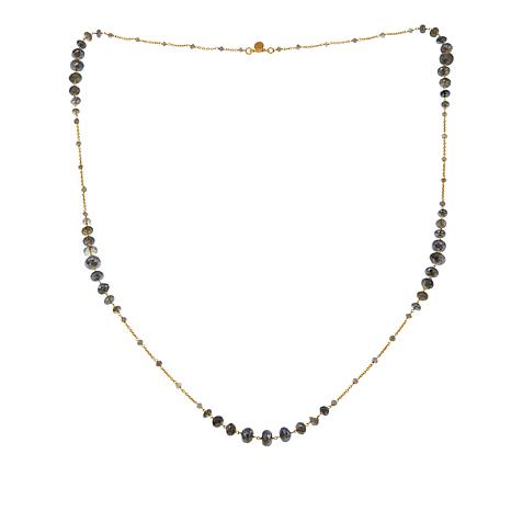 "Rarities Gem Rondelle Beaded 40"" Necklace"