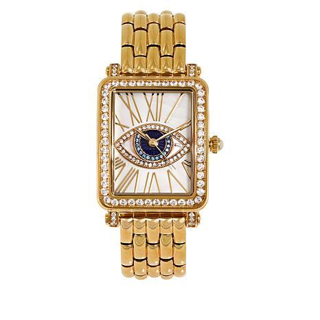 Rarities Gemstone Evil Eye Bracelet Watch