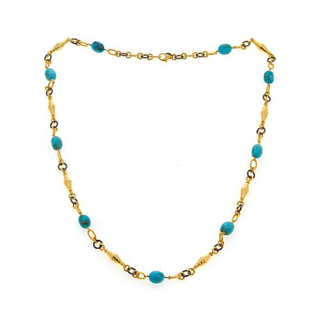 "Rarities Kingman Turquoise 2-Tone 36"" Necklace"