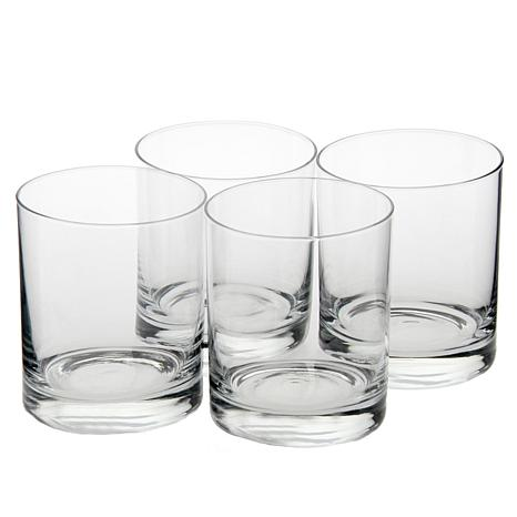 cut crystal double old fashioned glasses mikasa clear cheers set of 4 heavy classic