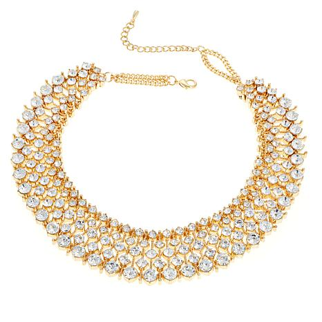 Real Collectibles by Adrienne® Crystal Collar Necklace