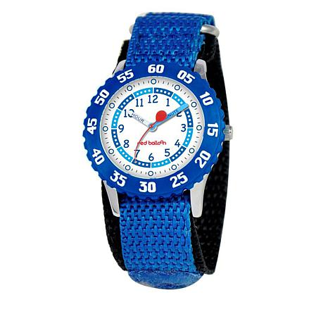 Red Balloon Kid's Time-Teacher Watch with Rotating Bezel - Blue
