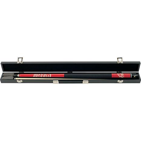 Red Coca-Cola Hardwood 2-piece Pool Cue with Case
