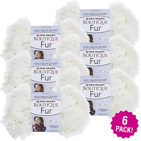 Red Heart Boutique Fur Yarn 6-pack - Polar