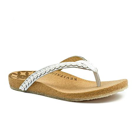 Revitalign Kena Flip Flop Leather Sandal