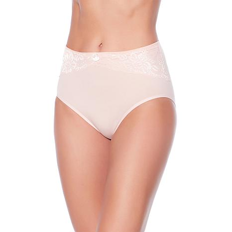 """Rhonda Shear """"Ahh"""" Seamless Brief 3-pack with Lace Overlay"""