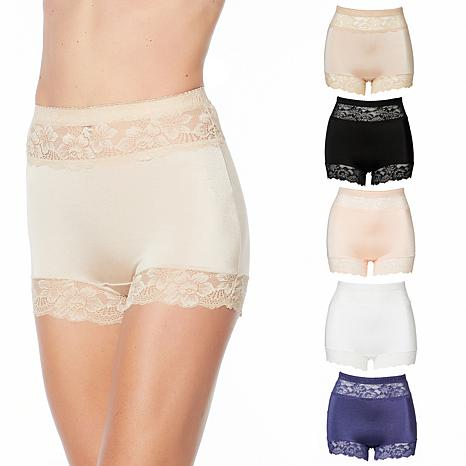 "Rhonda Shear ""Betty"" 5-pack Pin Up Panty with Lace Trim"