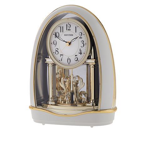 Rhythm Musical Motion Valentina Clock with Swarovski Crystal