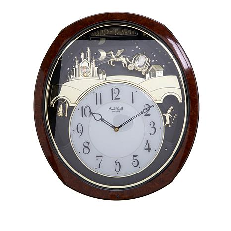 RHYTHM Princess Fantasy Musical Wall Clock