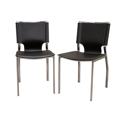 Richard Dark Brown Bonded Leather Dining Chairs - 2