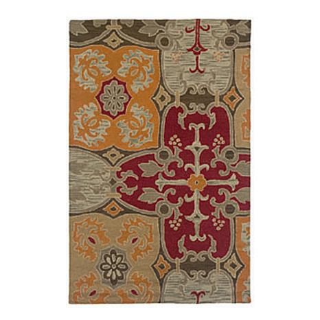 Rizzy Home Country Hand-Looped Mosaic Rug - 5' x 8'