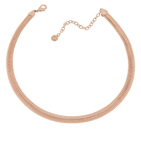 "R.J. Graziano 19-1/2"" Snake Chain Collar Necklace"
