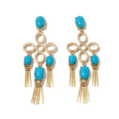 "R.J. Graziano  ""Blue Horizon"" Tassel Earrings"