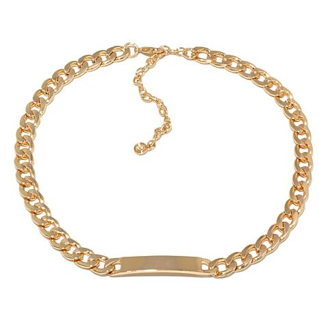 "R.J. Graziano ""Hit List"" Goldtone Curb-Link ID Necklace"