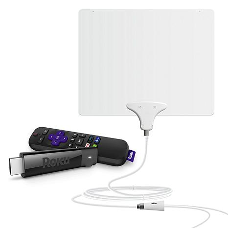 Roku Stick + 4K UHD HDR Media Streamer with Mohu TV Antenna
