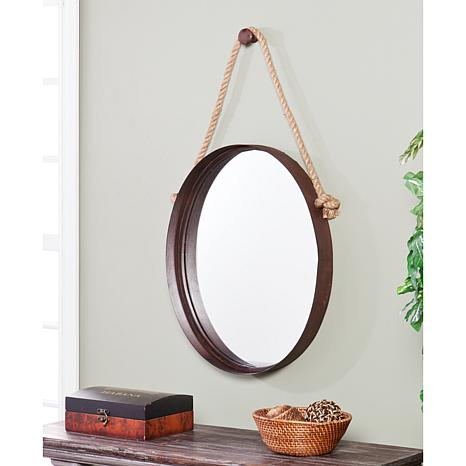 Round Decorative Mirror. How to decorate or style your entry way.