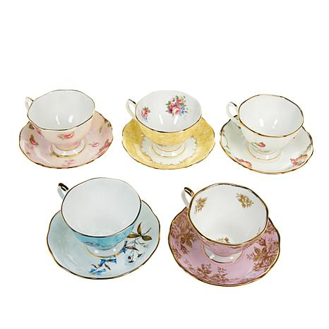 Royal Albert 100 Years Collection 10pc Cup & Saucer Set - 1950 to 1990