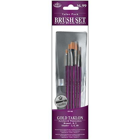 Royal Langnickel Gold Taklon 5-Piece Brush Set