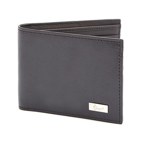 Royce RFID-Blocking Saffiano Leather Hipster Wallet
