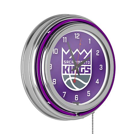 Sacramento Kings Double Ring Neon Clock