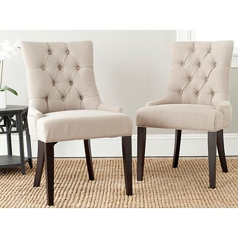 safavieh abby set of 2 side chairs 7907508 hsn