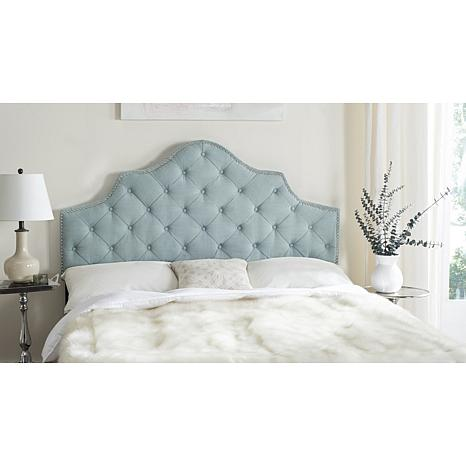 Safavieh Arebelle Tufted Headboard With Silver Nailhead