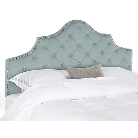 safavieh arebelle tufted headboard queen - Tufted Bed Frame Queen